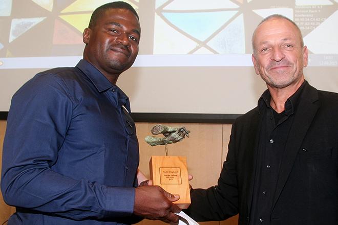 André Shepherd, Preisträger der PRO ASYL-Hand 2015