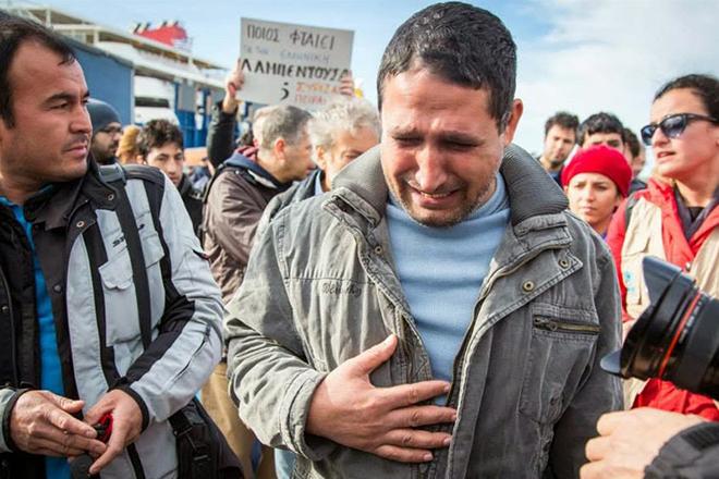 Ein Überlebender der Katastrophe vom 20. Januar 2014 vor Farmakonisi. Foto: Greek Forum of Refugees