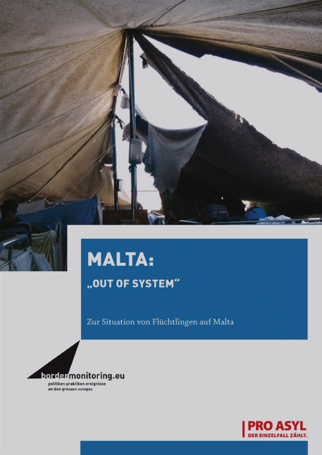 PRO_ASYL_Broschuere_Malta_Out_of_System_Mai_2012_Cover