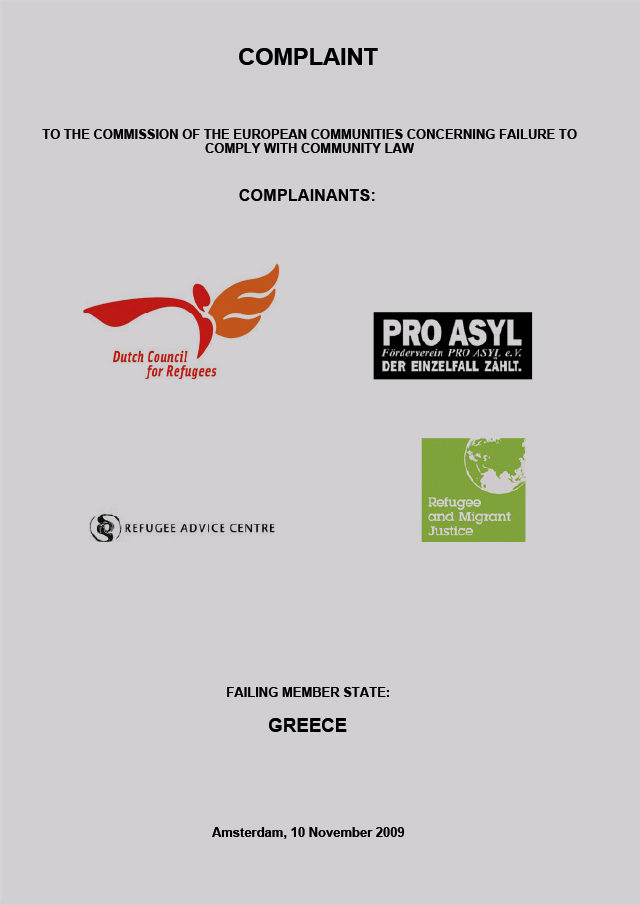 PRO_ASYL_Complaint_against_Greece_Nov_2009