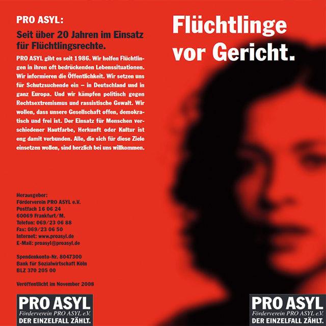 PRO_ASYL_Faltblatt_Fluechtlinge_vor_Gericht_November_2008_Cover