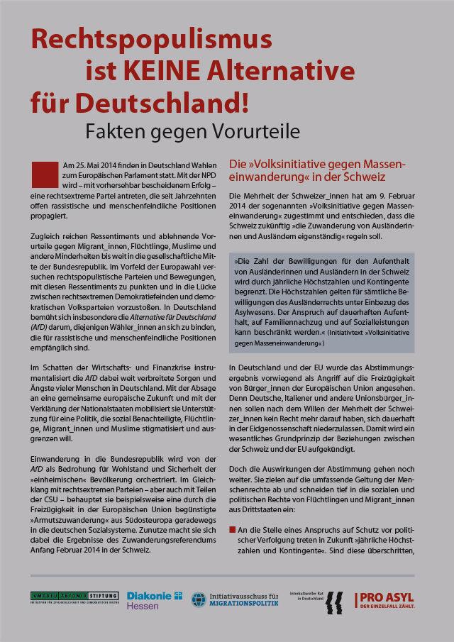PRO_ASYL_Infoblatt_Rechtspopulismus_ist_keine_Alternative_fuer_Deutschland_Mai_2014