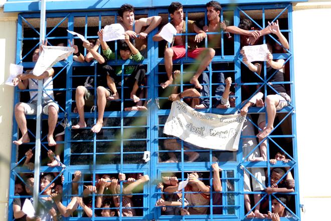 Haftlager Pagani 2009. Foto: UNHCR