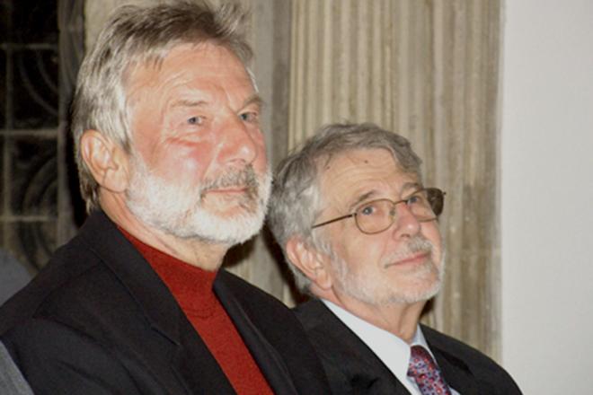 Stefan Schmidt und Ferenc Köszeg, Preisträger der PRO ASYL-Hand 2006