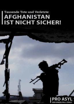 Faltblatt: Afghanistan ist nicht sicher!