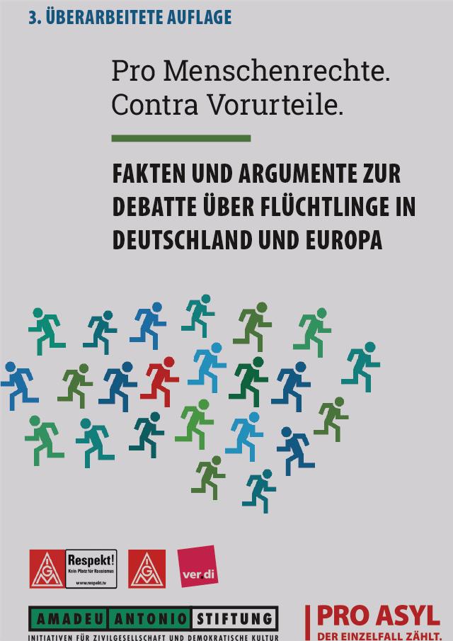 """Cover Broschüre """"Pro Menschenrechte. Contra Vorurteile"""""""