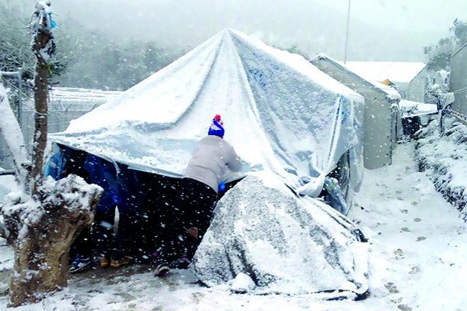Erbärmiche Zustände im Winter 2ß17 im Eu-»Hotspot« Moria auf Lesbos.