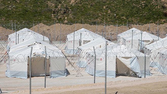 Flüchtlingslager an der griechisch-bulgarischen Grenze