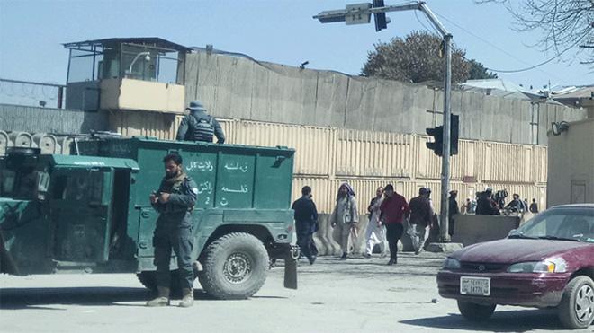 Sicherheitsmaßnahmen in der Innenstadt von Kabul