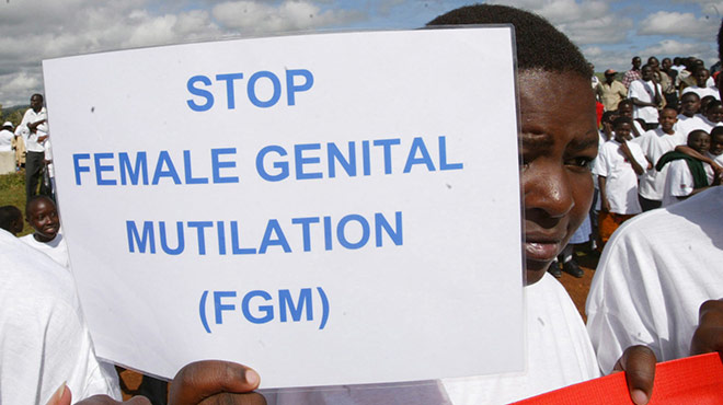 Demonstraiton gegen Female Genital Mutilation im Sudan